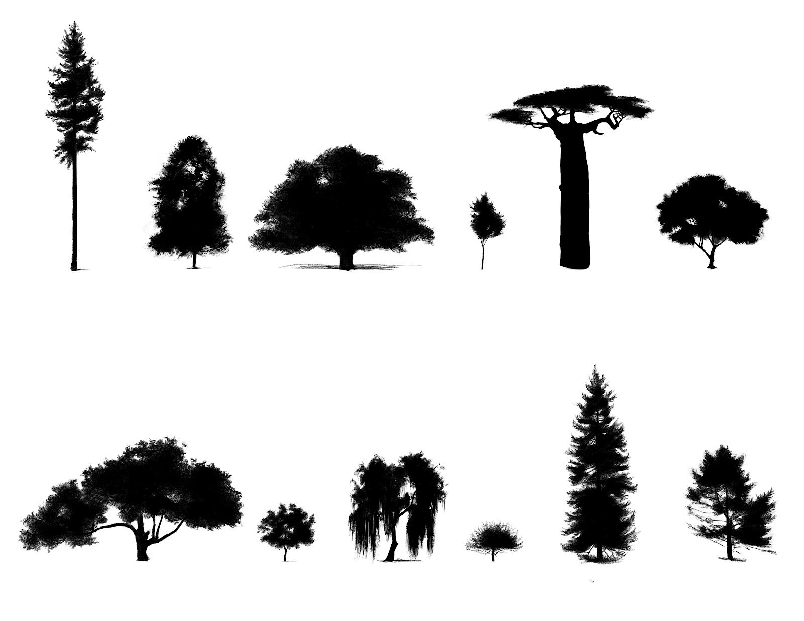 Pine tree silhouette tattoo viewing gallery cliparts co