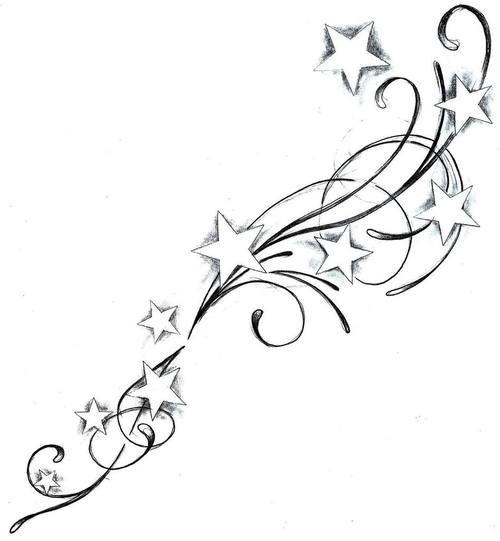 Stars And Hearts Tattoo Designs - Cliparts.co
