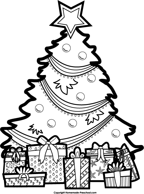 Black and white christmas tree ideas