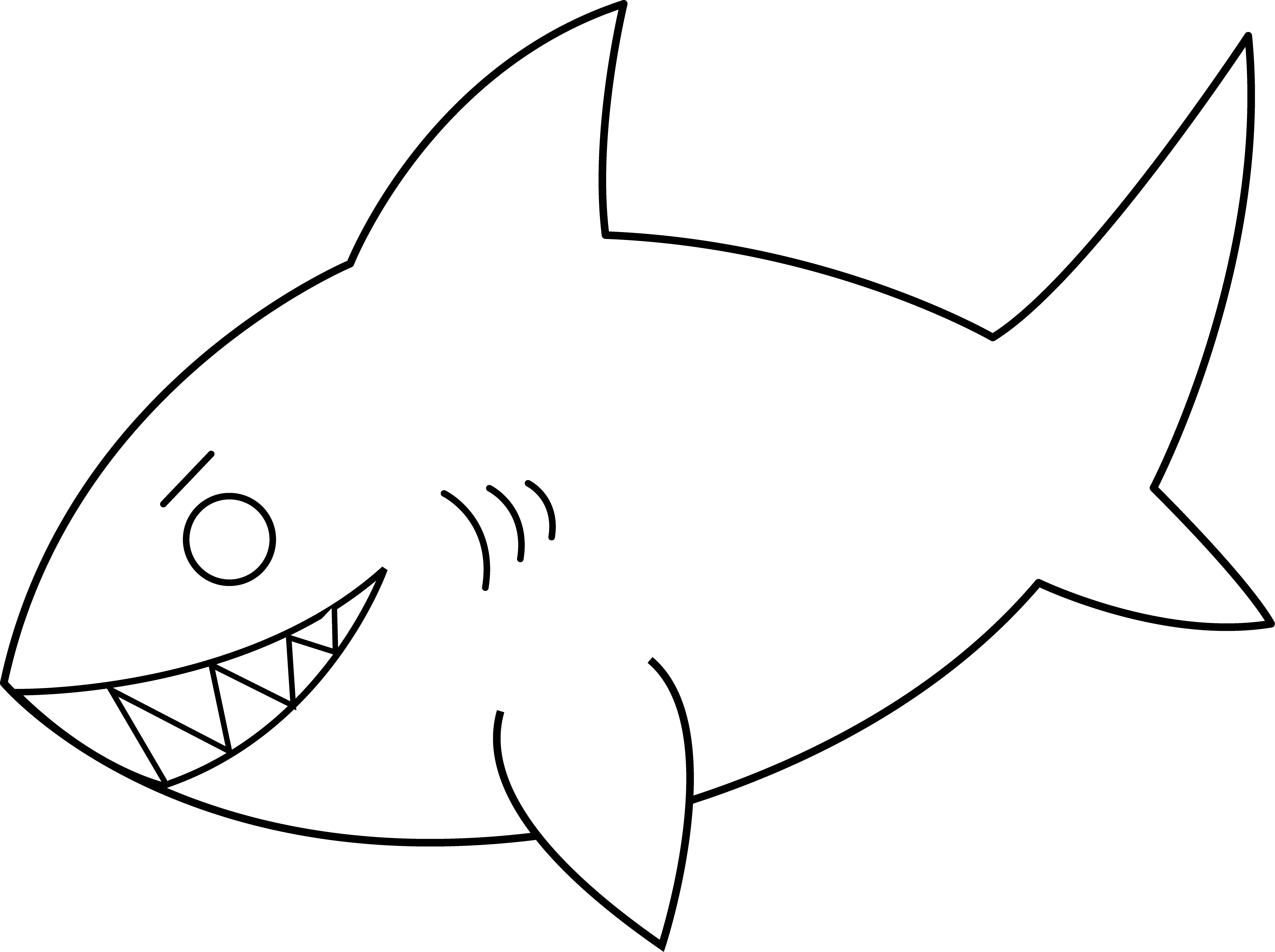 Fish Outline Clipart Black And White | Clipart Panda - Free ...