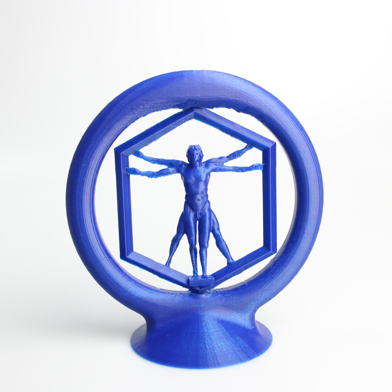 Download Spinning Vitruvian man by Kirby Downey - MyMiniFactory.com