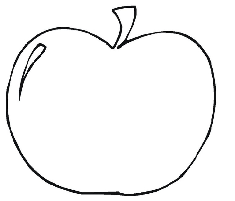 Apple Coloring Pages For Preschoolers : Free clip art apple cliparts
