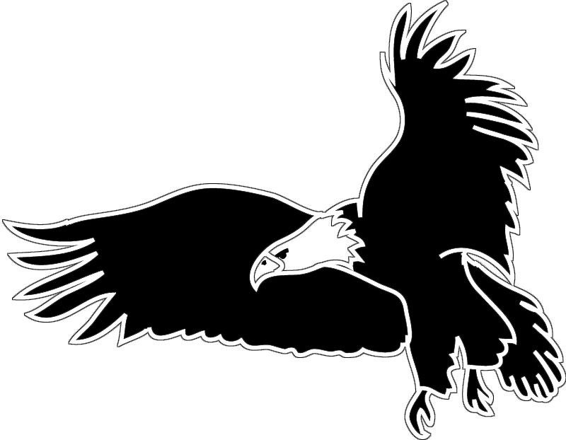Silhouette Eagle  Eagle Head Vector Png