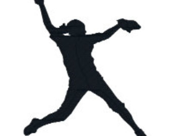 Softball Silhouette Clip Art - Cliparts.co