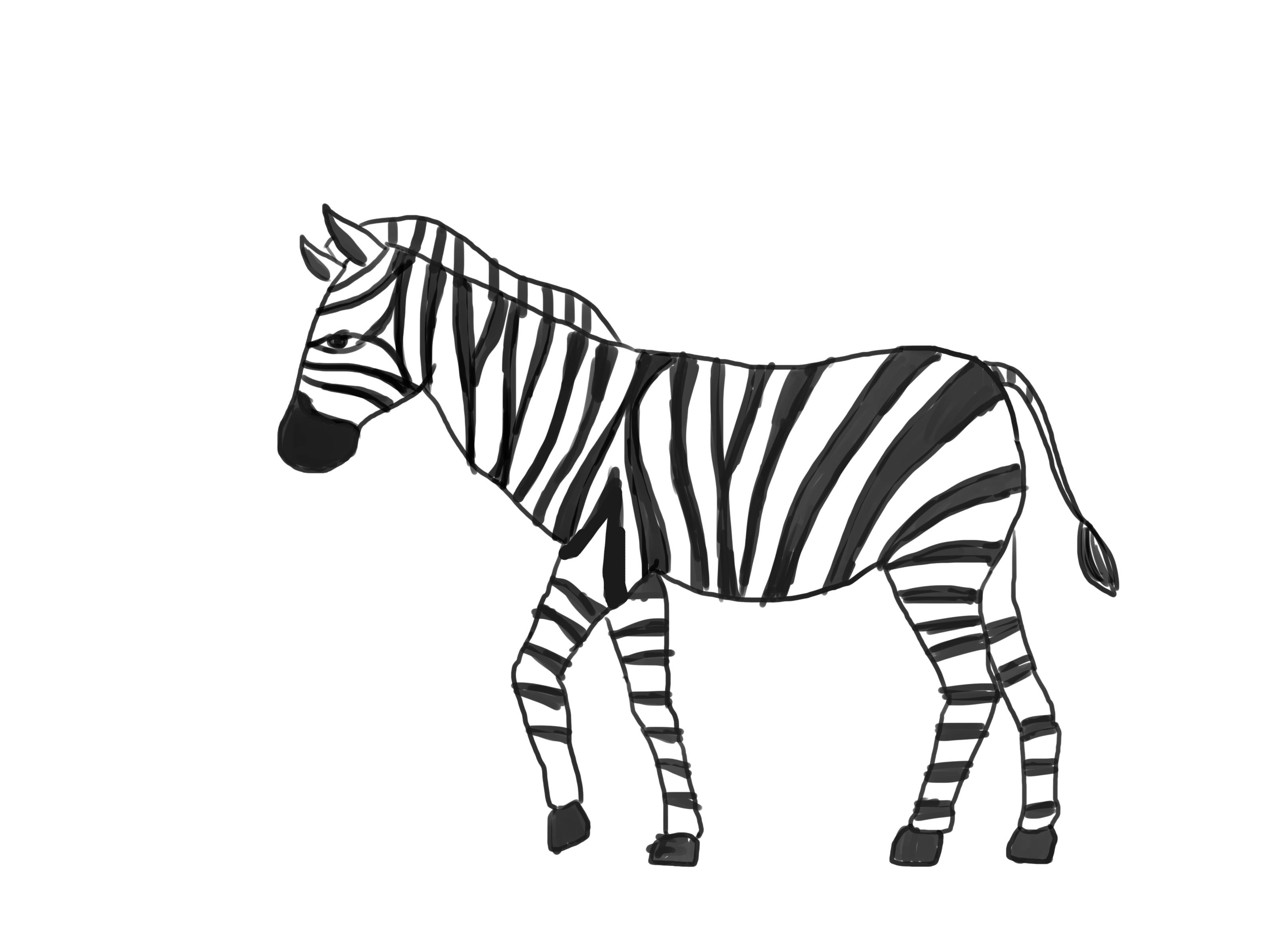 Рисовать картинку зебры