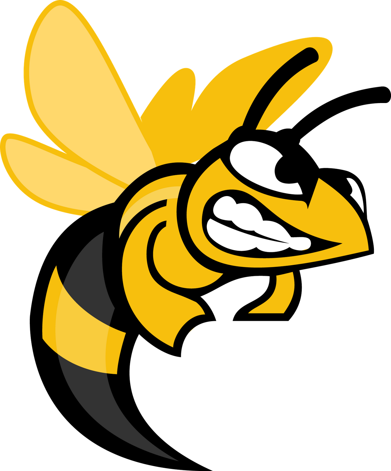 Hornet Mascot Embroidery Designs Clipart - Free Clip Art Images