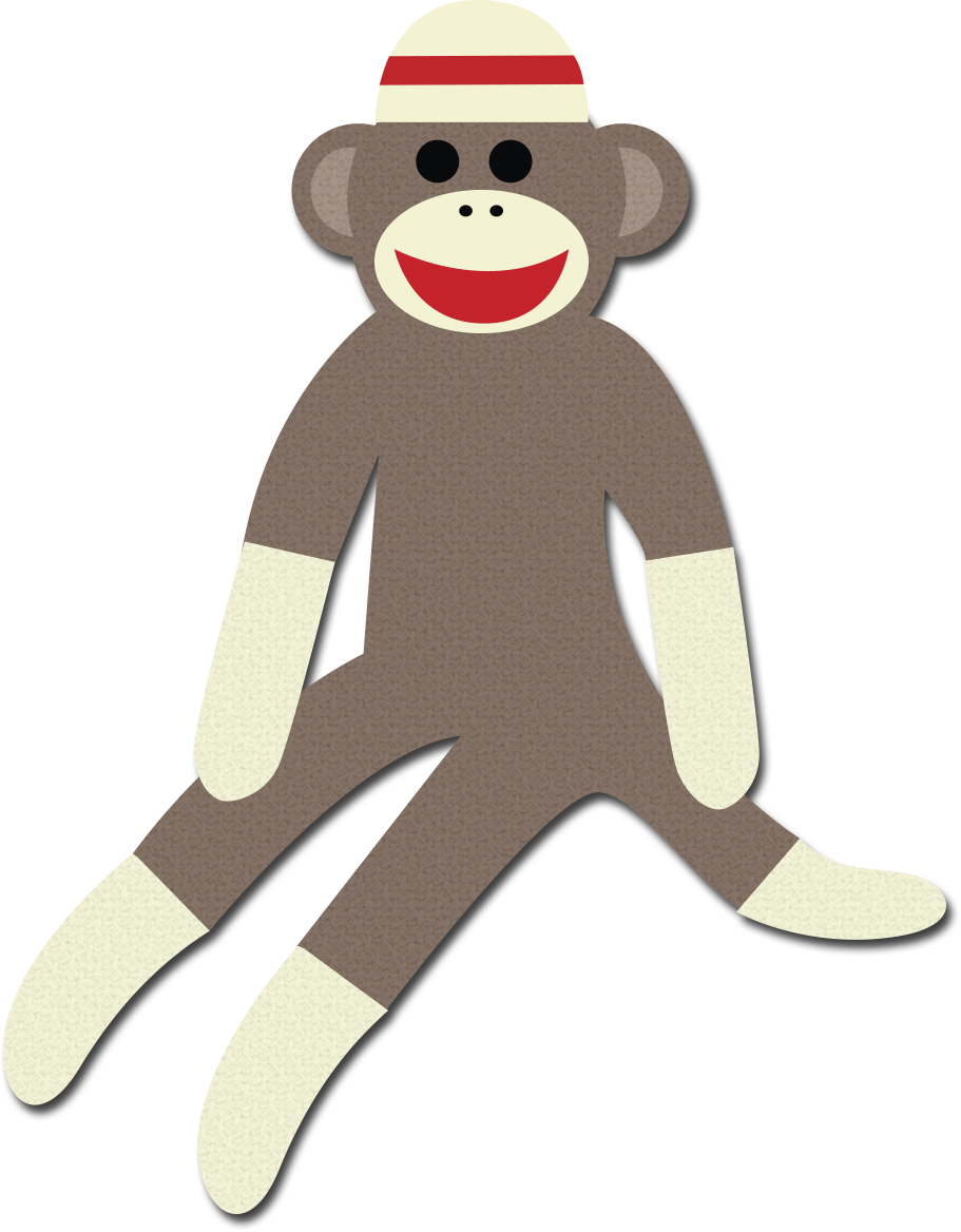 sock monkey clipart rh worldartsme com Schylling Sock Monkey Clip Art sock monkey face clip art