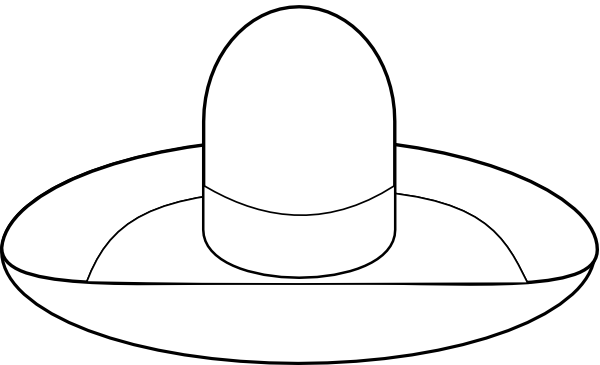 free sombrero coloring pages - photo#32