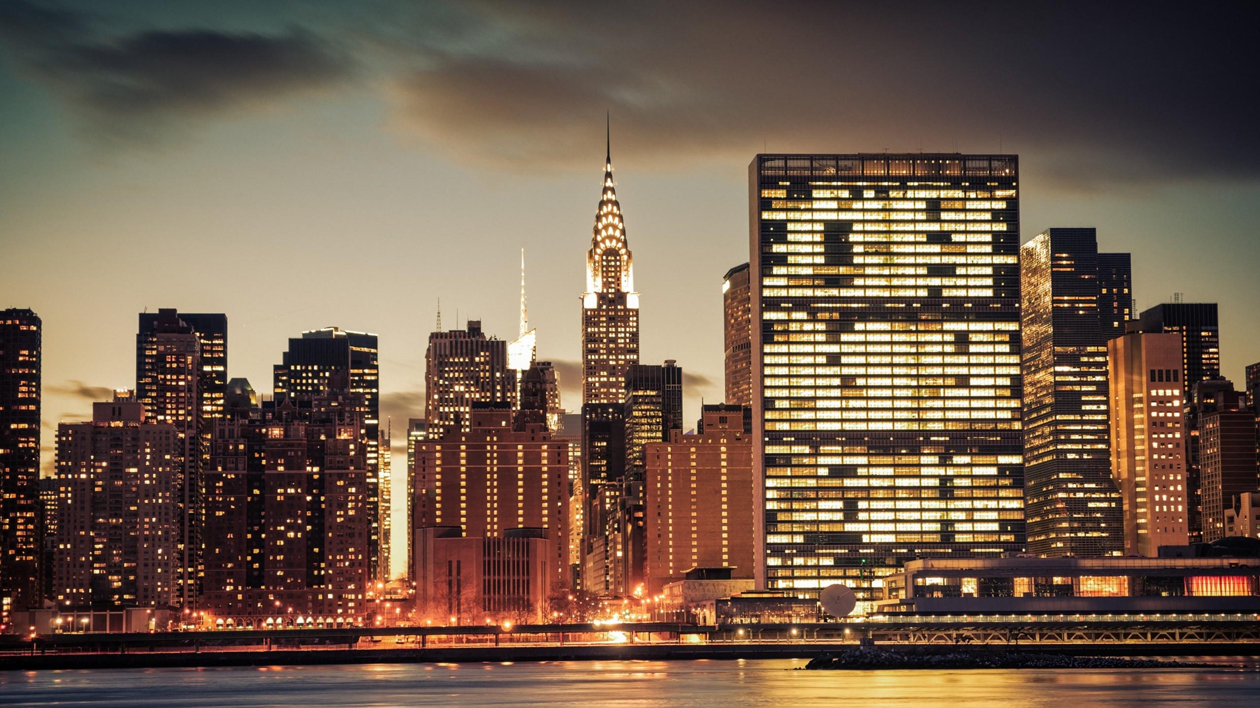 Download Wallpaper 2560x1440 City Skyline River Mac Imac 27 Hd Cliparts Co