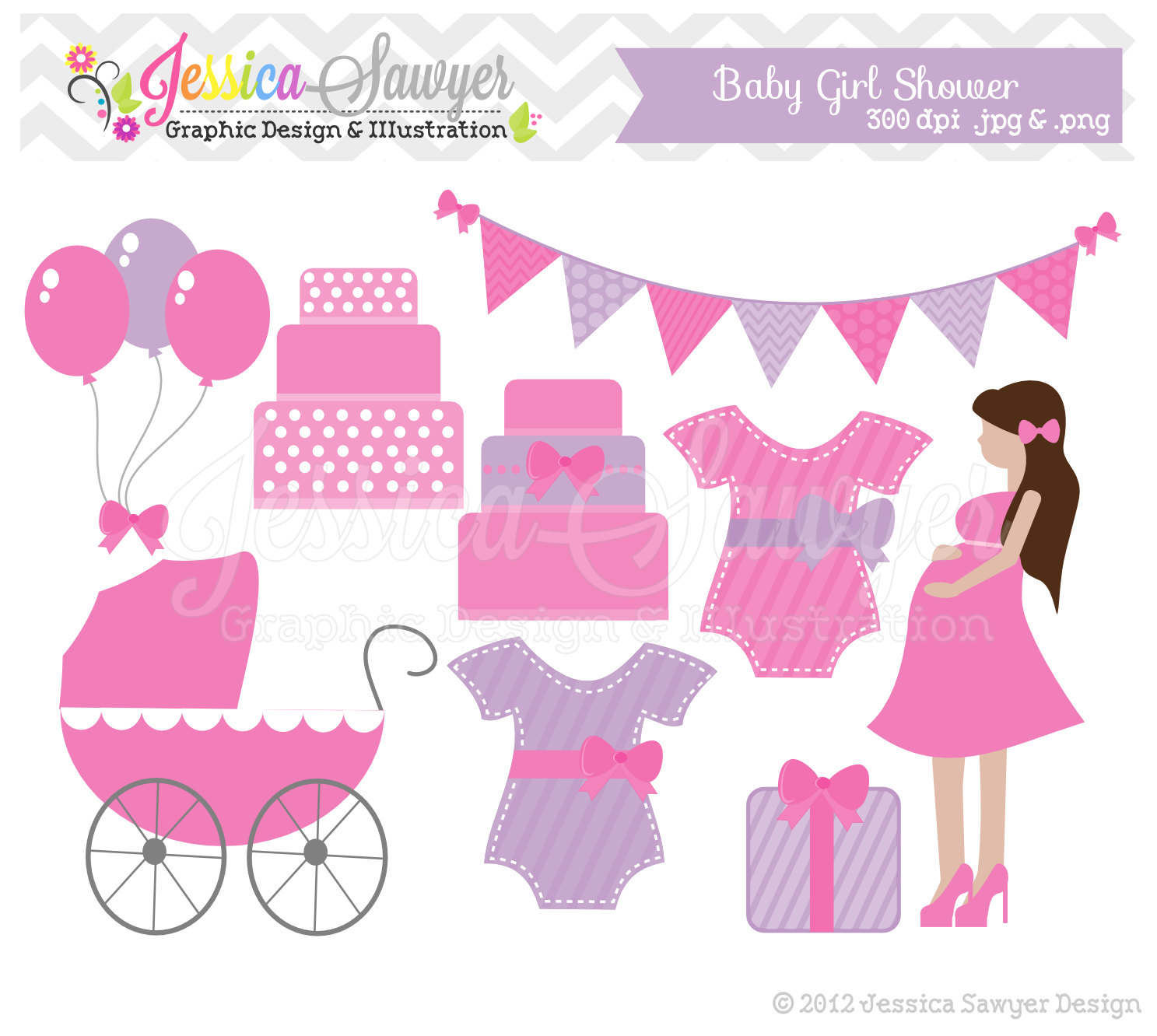 baby girl clipart shower - photo #36