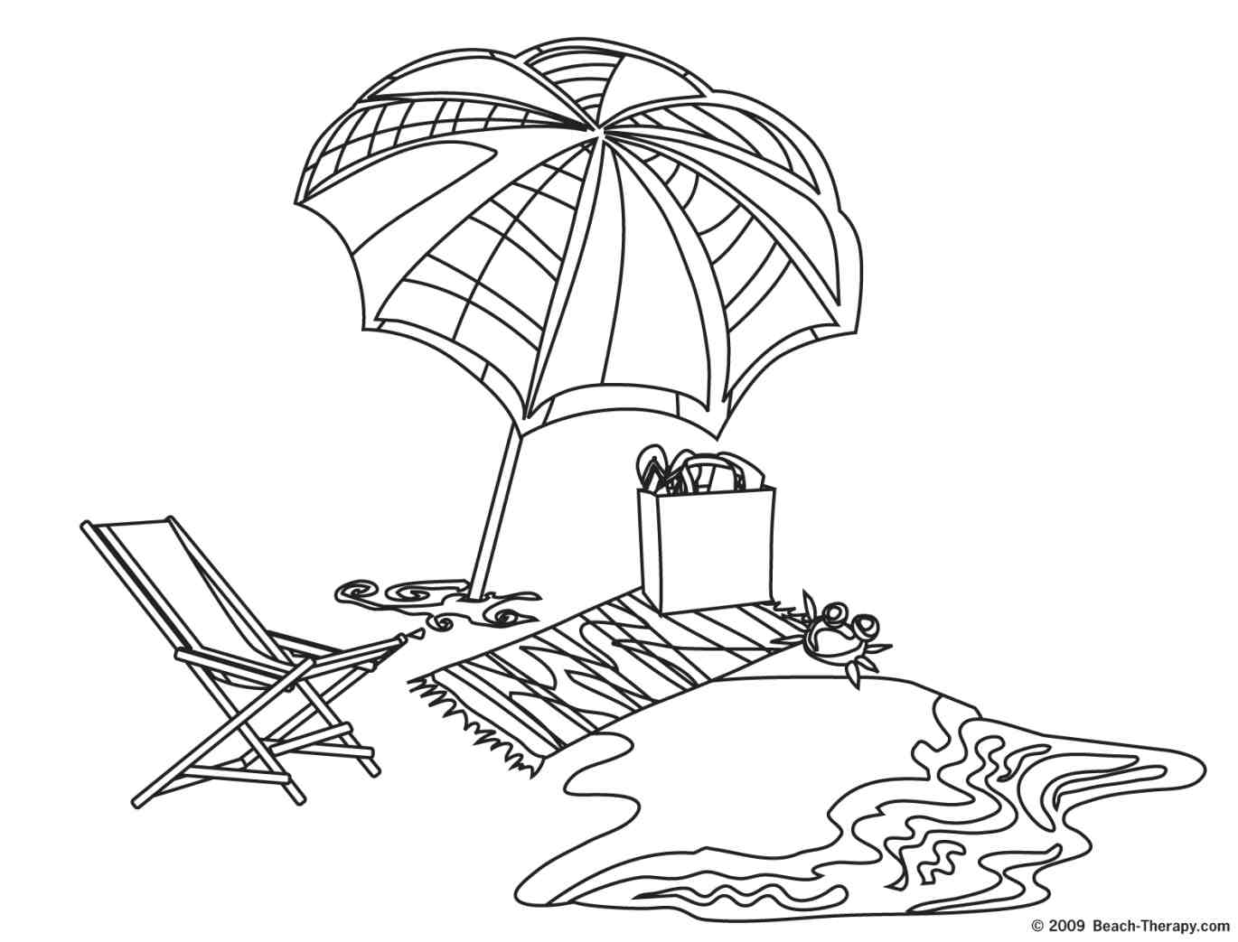 Beach Clipart Black And White - Cliparts.co