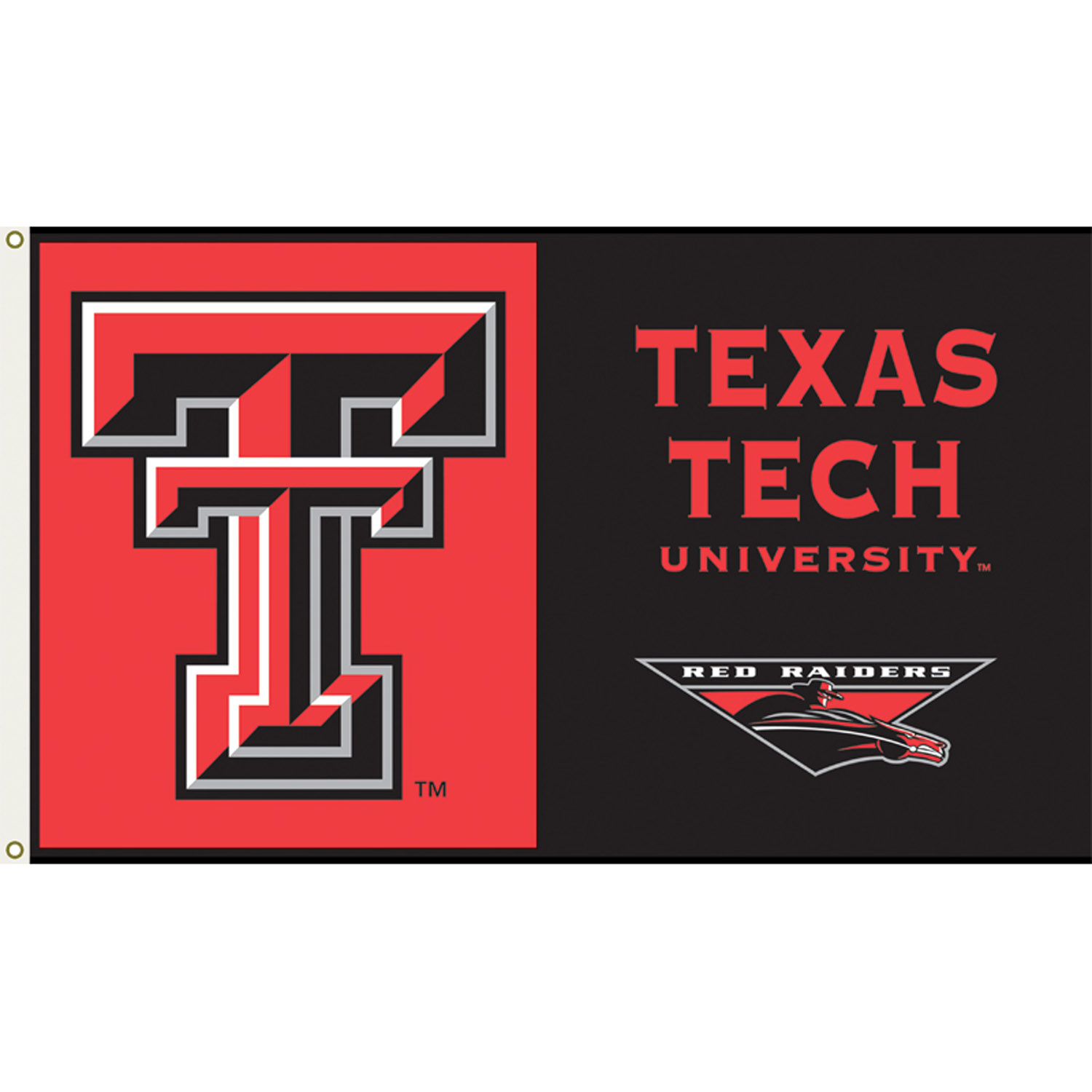 Texas Tech Red Raiders 3ft x 5ft Team Flag - Logo Design 1
