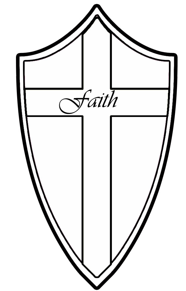 Free Coloring Pages Of Shield Of Faith Shield Coloring Page