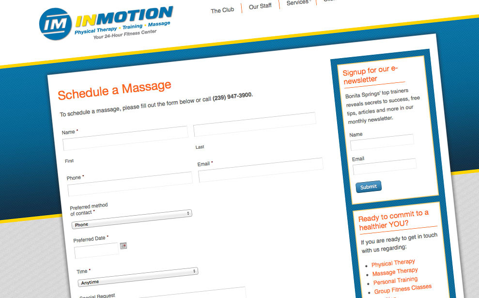 InMotion Fitness & Physical Therapy | Blue Turtle Graphics, Inc.
