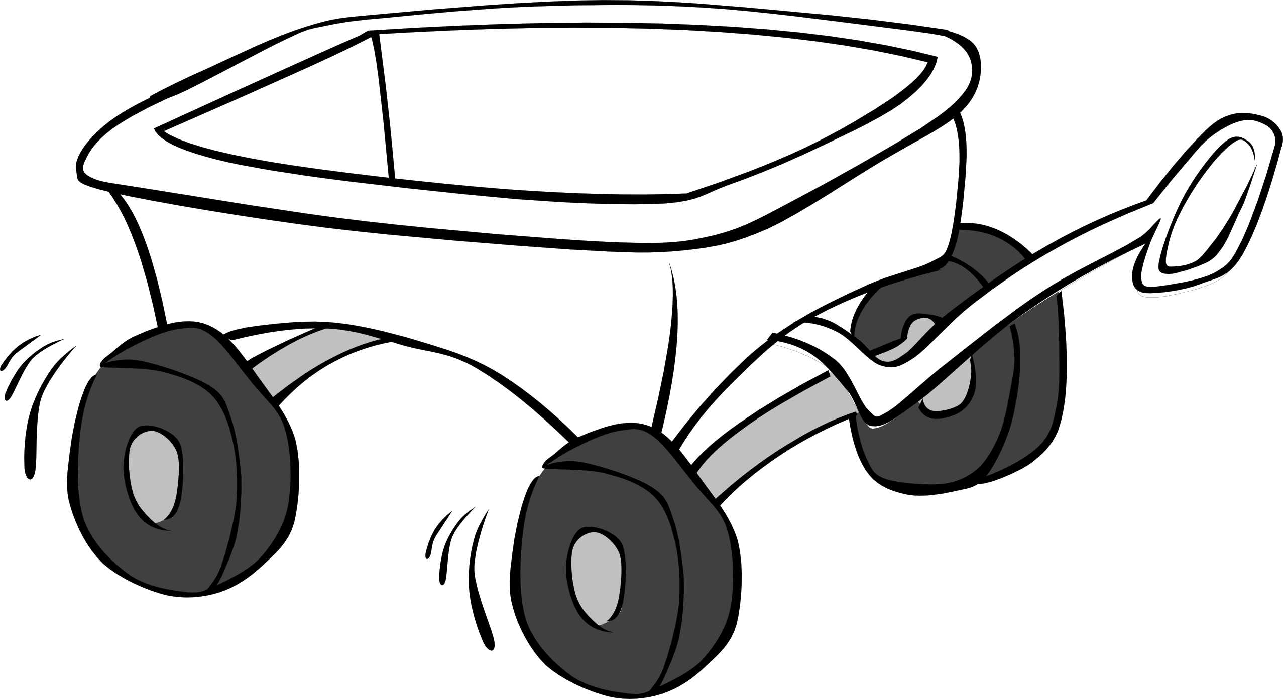 Images For > Wagon Clip Art Black And White