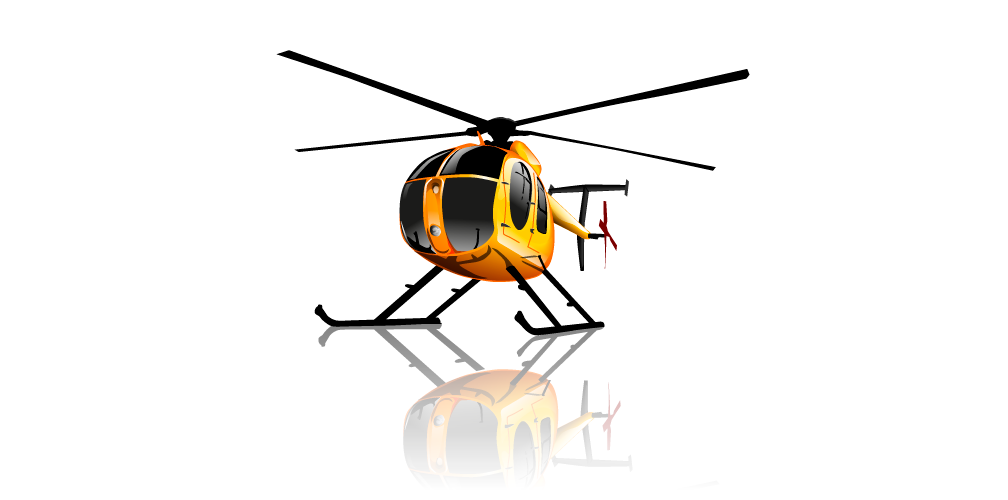 Chicago > Illustration > Stylized > Hughes 500D Helicopter ...