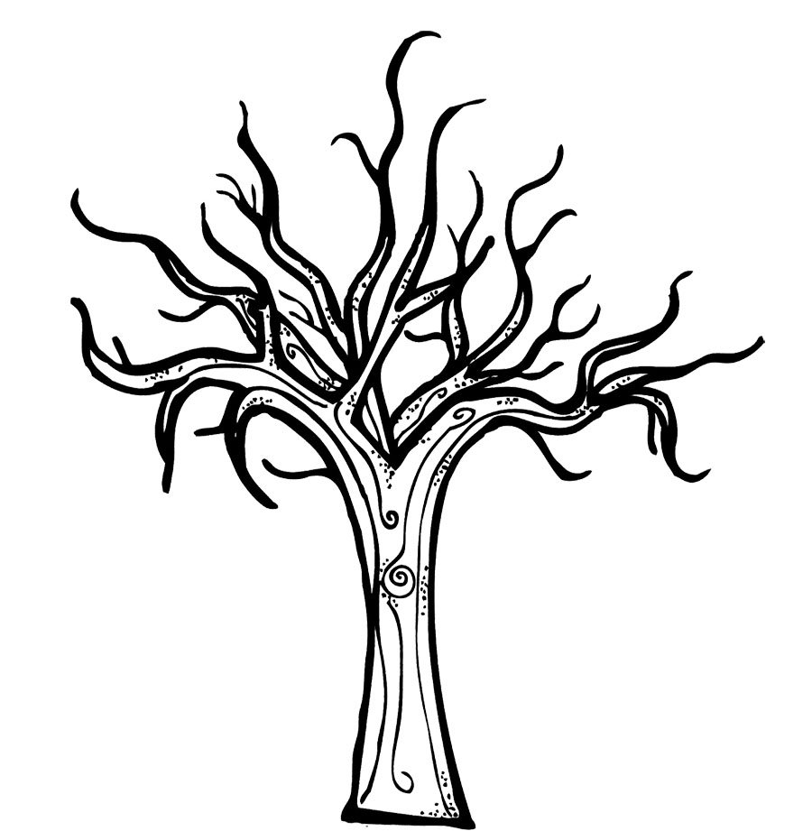 Co coloring page for leaves - Bare Tree With Roots Clipart Best Bare Tree Without Leaves Coloring Pages Tree Coloring Pages
