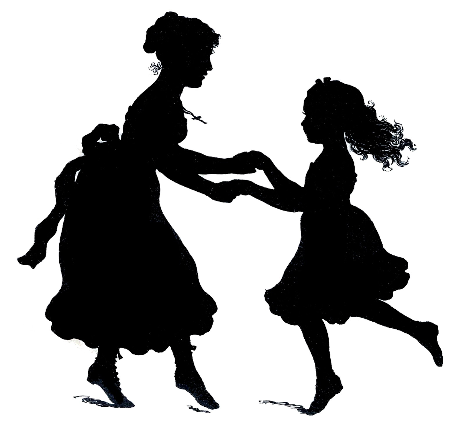 clipart mother and daughter - photo #34