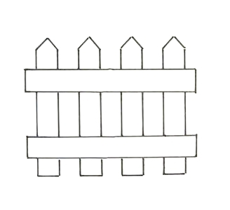 Picket Fence Template - Cliparts.co