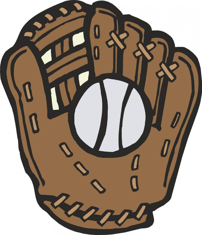 Baseball Glove and Ball (Singles) - Wall Graphic - ClipArt Best ...
