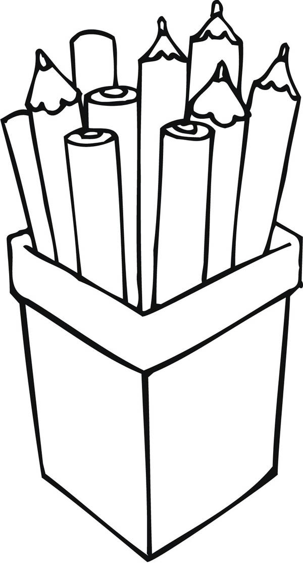 Pencil Coloring Pages Cliparts Co Colored Pencil Coloring Pages