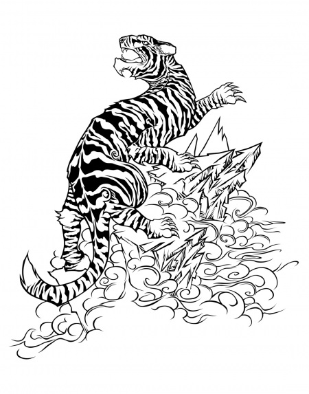 Fire Tiger Tattoo - Cliparts.co