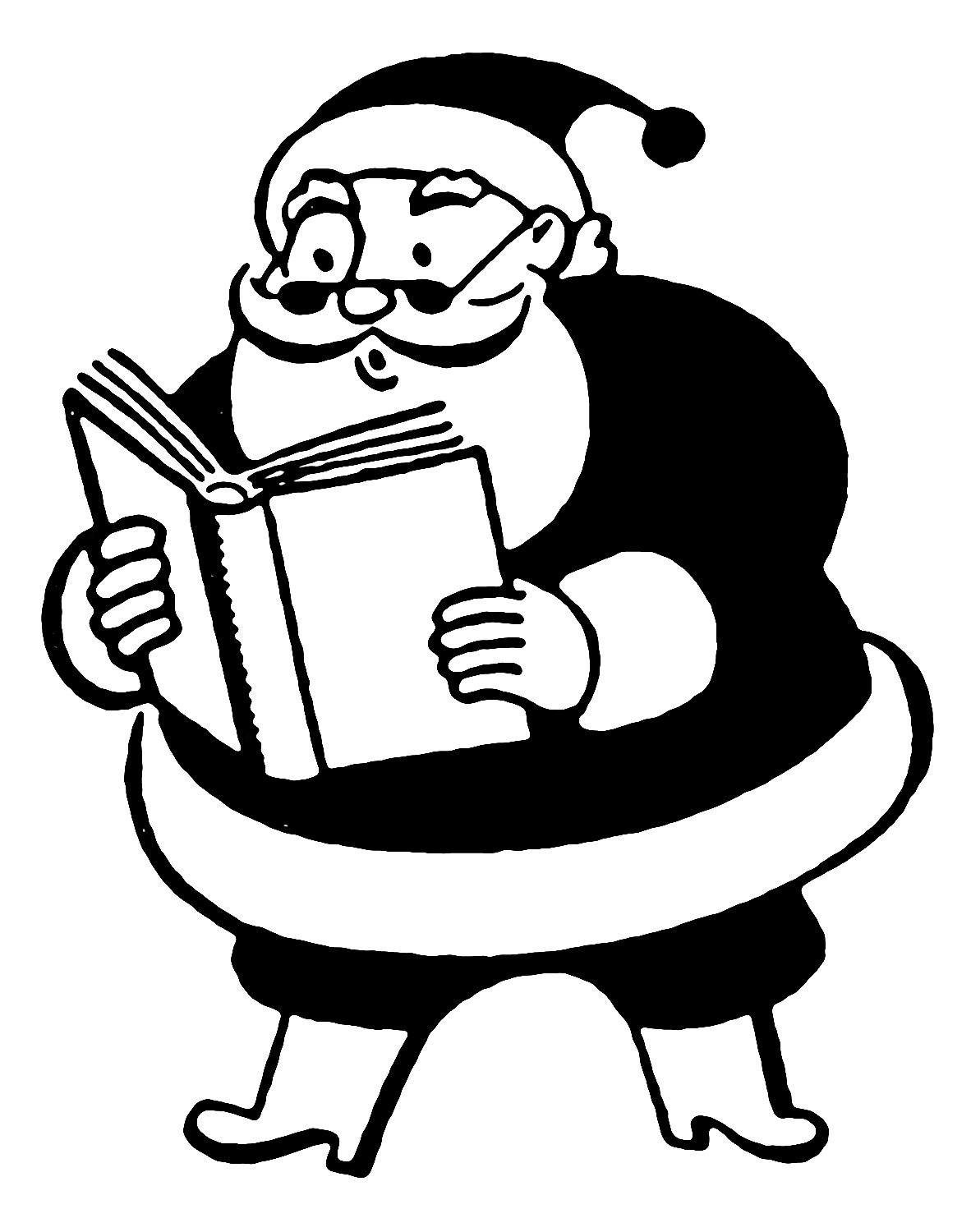 free black and white santa clipart - photo #46