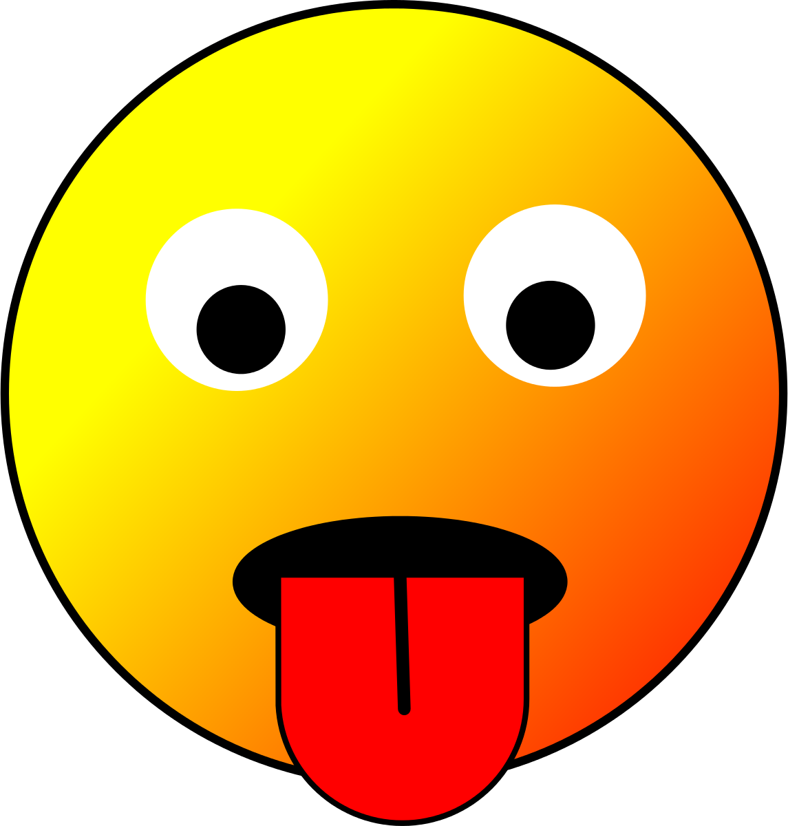 Tongue Smiley Clipart by star4clover : Smiley Cliparts #19070 ...