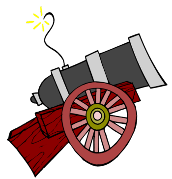 Cannon clip art clipart collection