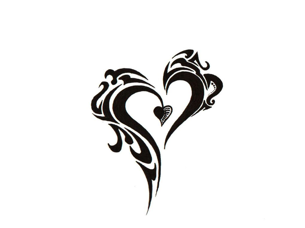 Cool heart designs to draw for Cool designs in black and white