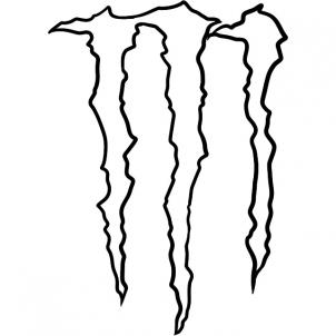How to Draw Monster Energy Logo, Monster Logo, Step by Step ...