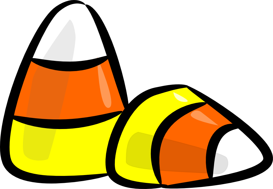 Halloween Candy Corn Clipart