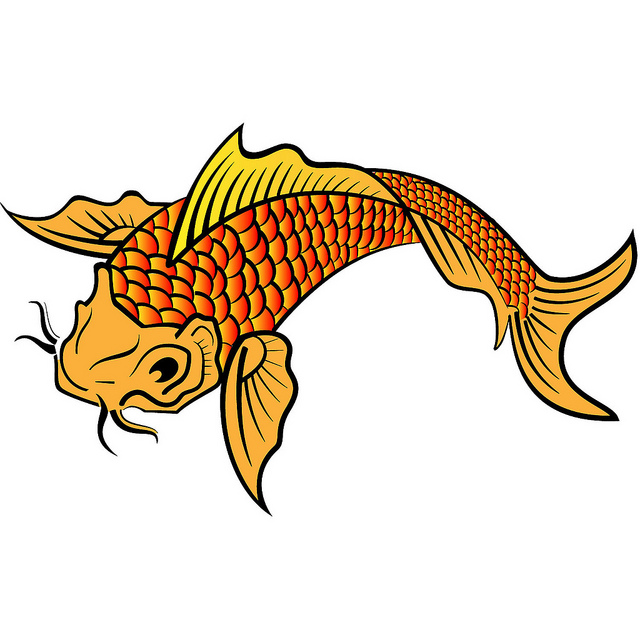 Image Gallery koi fish clip art
