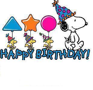 Happy Birthday Clip Art Snoopy Download Free Word Excel