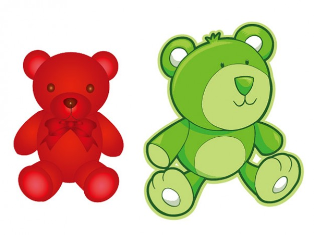 Cartoon teddy bear Vector material Vector | Free Download
