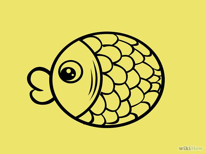 Simple fish cartoons for Cartoon fish drawing