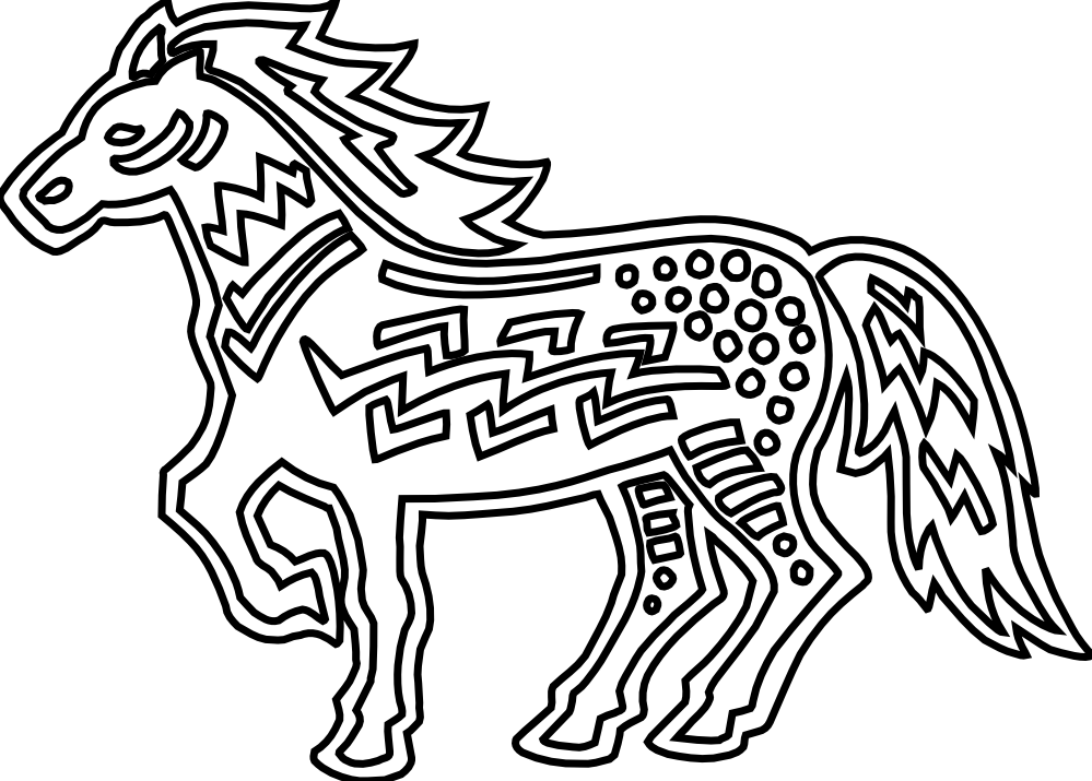 clipartist.net » Clip Art » figurative horse black white line art SVG