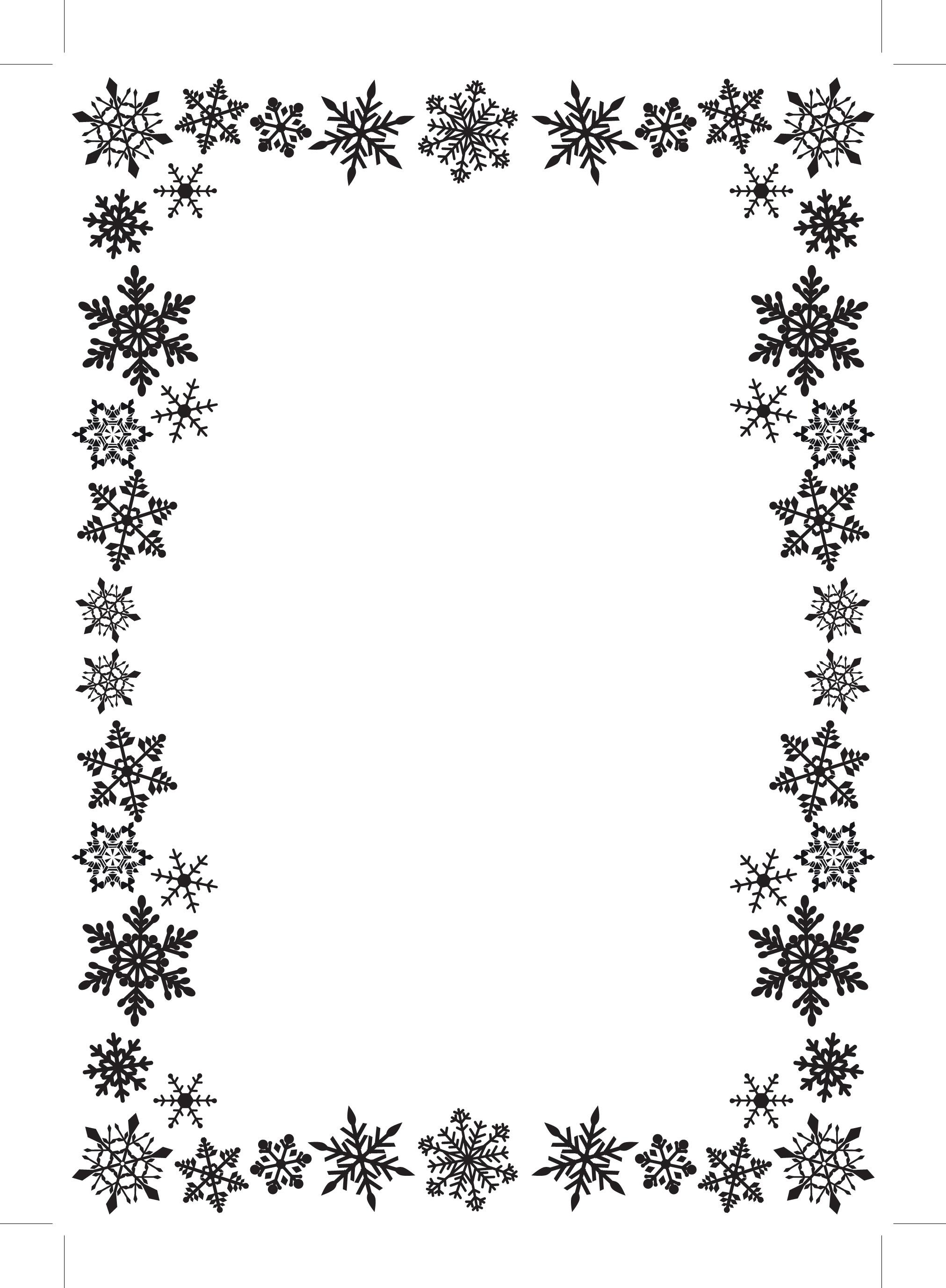 Snow Border - Cliparts.co