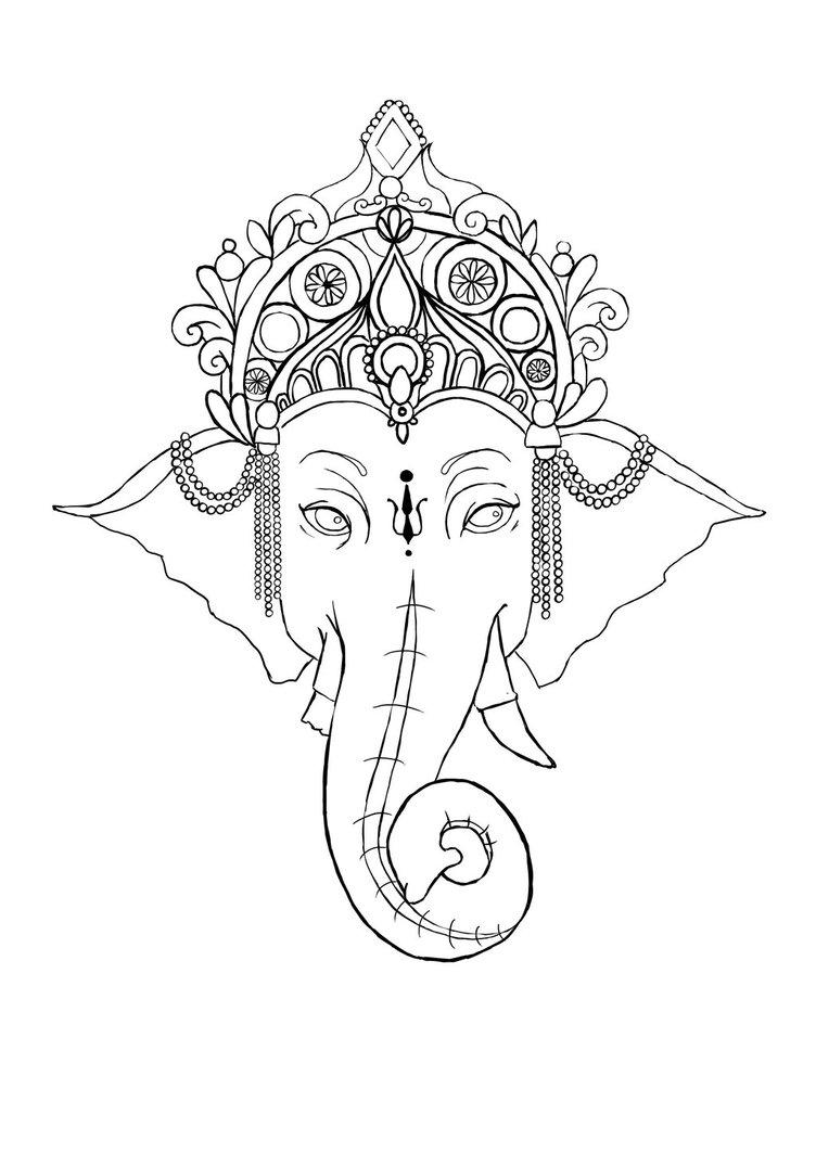 Ganesh Drawing - Cliparts.co