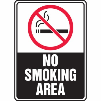 SMOKING PERMITTED IN THIS AREA ONLY Sign  10 x 14