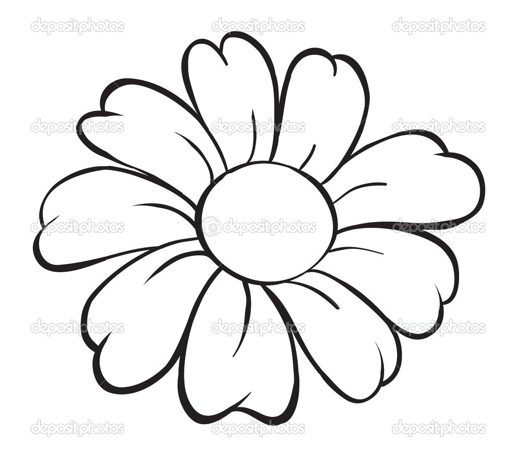 Flower Drawings - Cliparts.co
