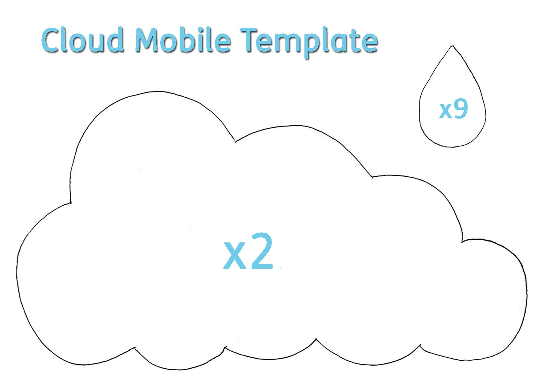Cloud Template Cliparts Co