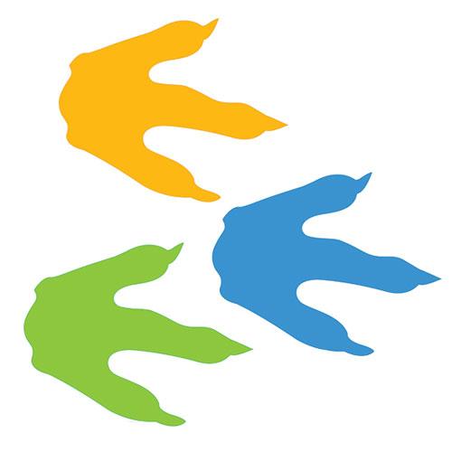 Dinosaur Footprint Template - Cliparts.co
