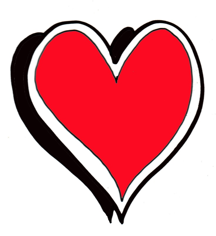 free black heart clipart - photo #49