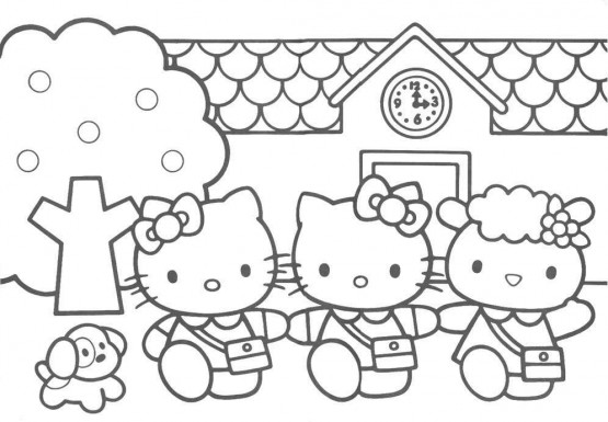 Gambar Hello Kitty Hitam Putih Cliparts Co