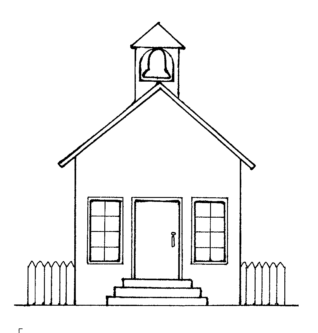 School House Outline - Cliparts.co