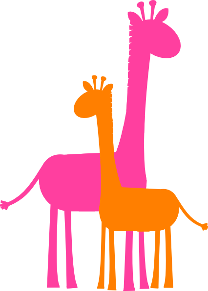 Giraffes in love clipart