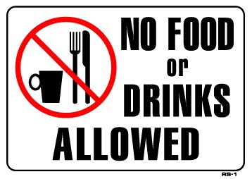 No Food Or Drink Allowed In Store