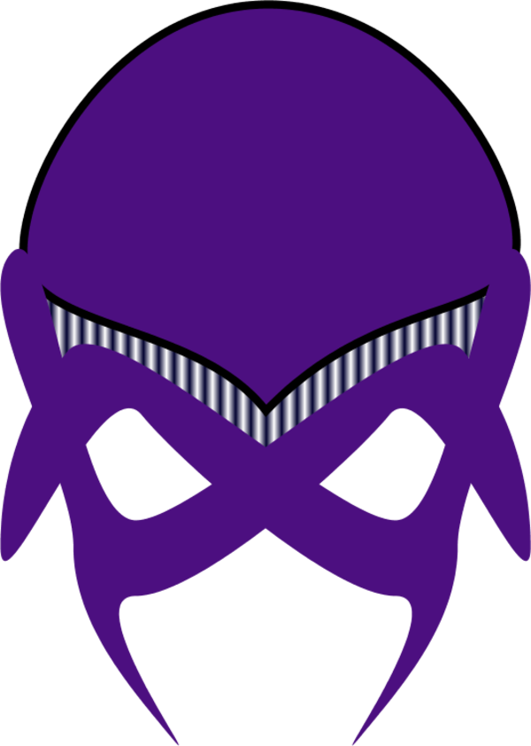 green alien mask - vector Clip Art