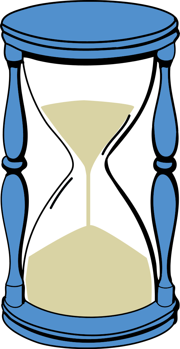 hourglass with sand - vector Clip Art